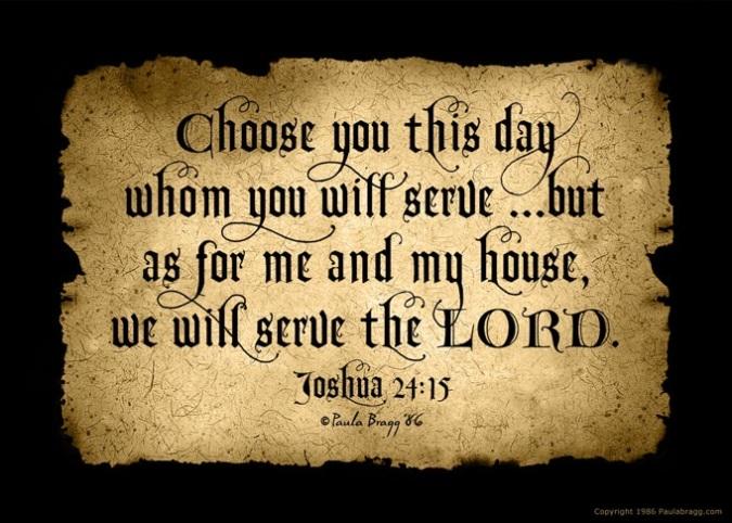 Joshua 24 15b