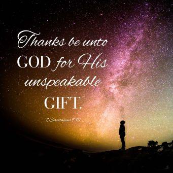 unspeakable gift